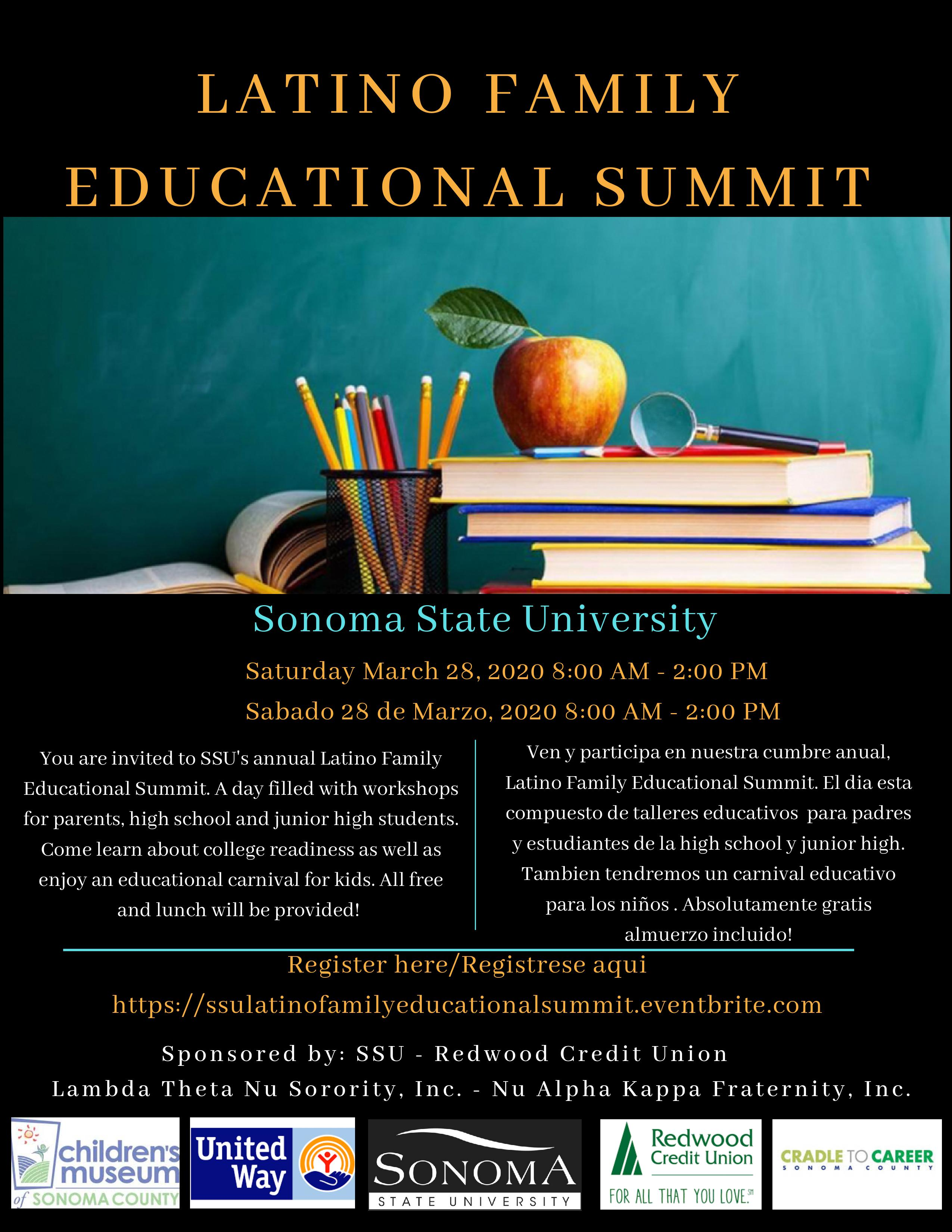 Latino Family Educational Summit poster