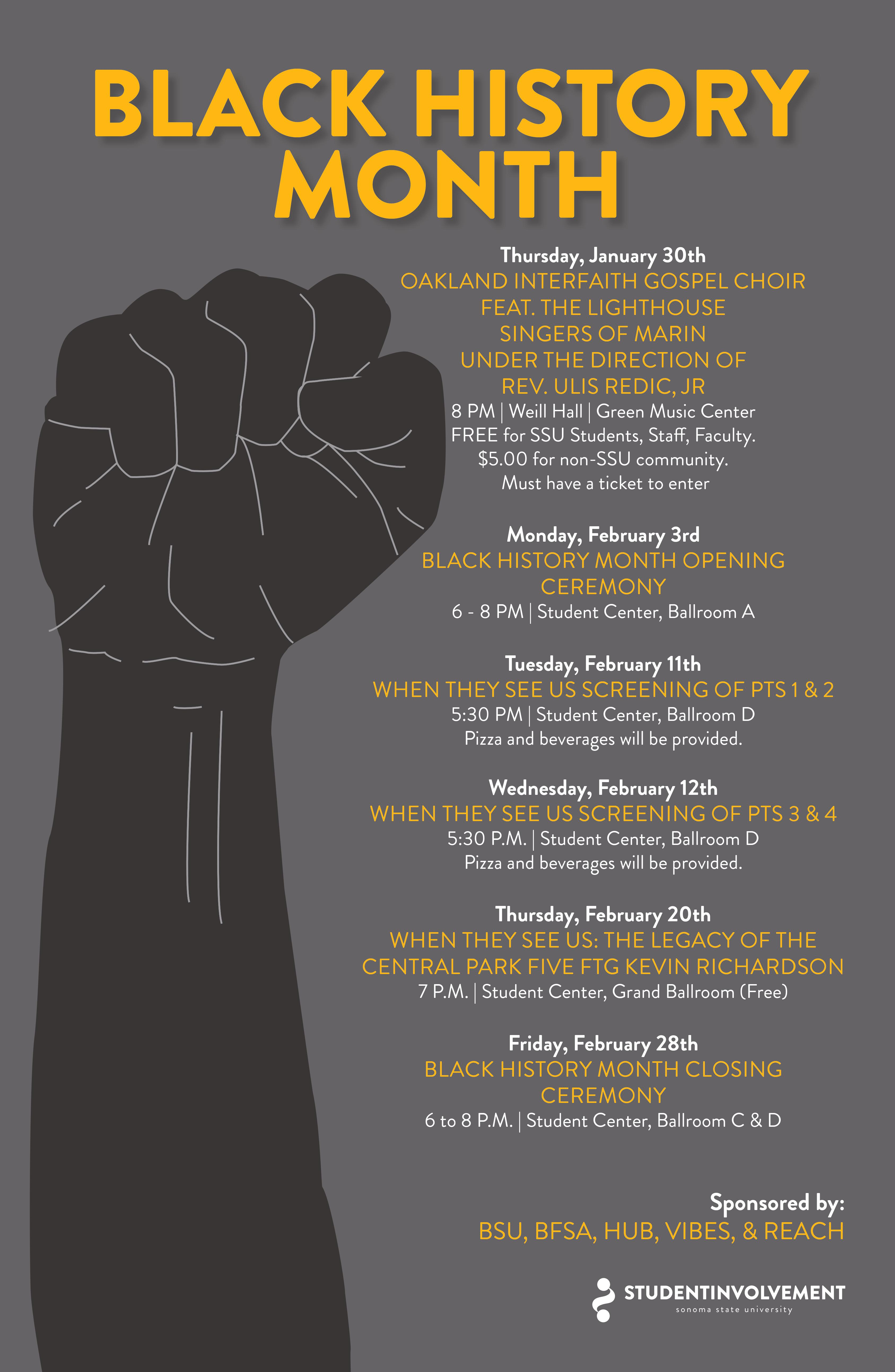 Black History Month info graphic poster