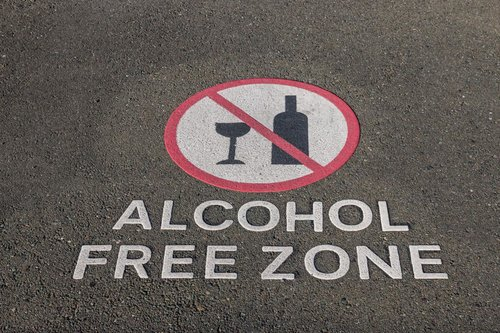 Alcohol Free Zone graphic