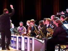 The SSU Jazz Orchestra performing on stage