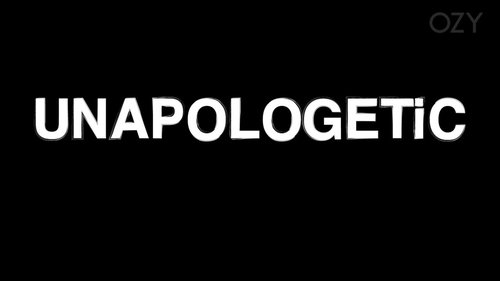 "Graphic that says ""unapologetic"""
