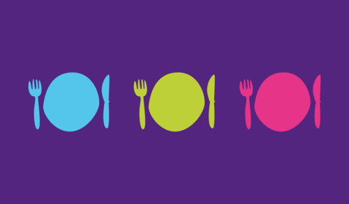 Graphic of a plate and utensils