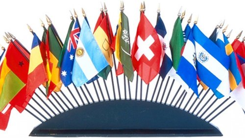 Flags from various countries