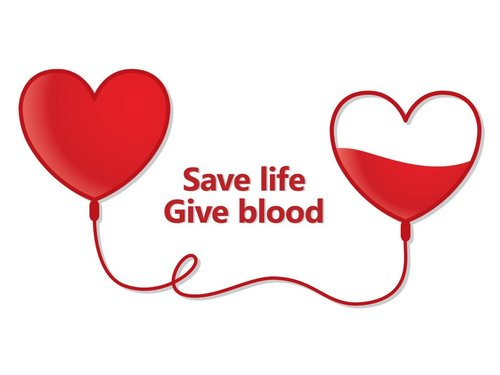 Save life Give blood heart graphic
