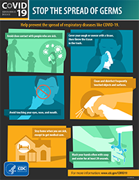 Stop The Spread Of Germs Infographic