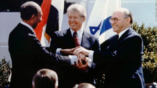 World leaders shaking hands