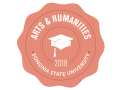 School of Arts and Humanities 2018 Commencement badge