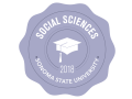 School of Social Sciences 2018 Commencement badge