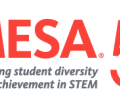 "The MESA ""Celebrating student diversity and achievement in STEM 50 years"" logo"