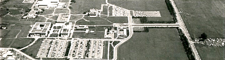 aerial shot of campus from 1967