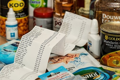 Receipt and groceries