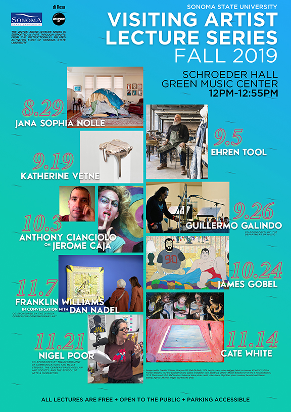 Artist lecture series info poster