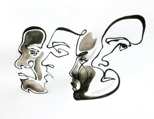 Sketch of faces