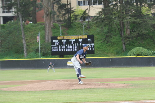 Student athlete playing baseball