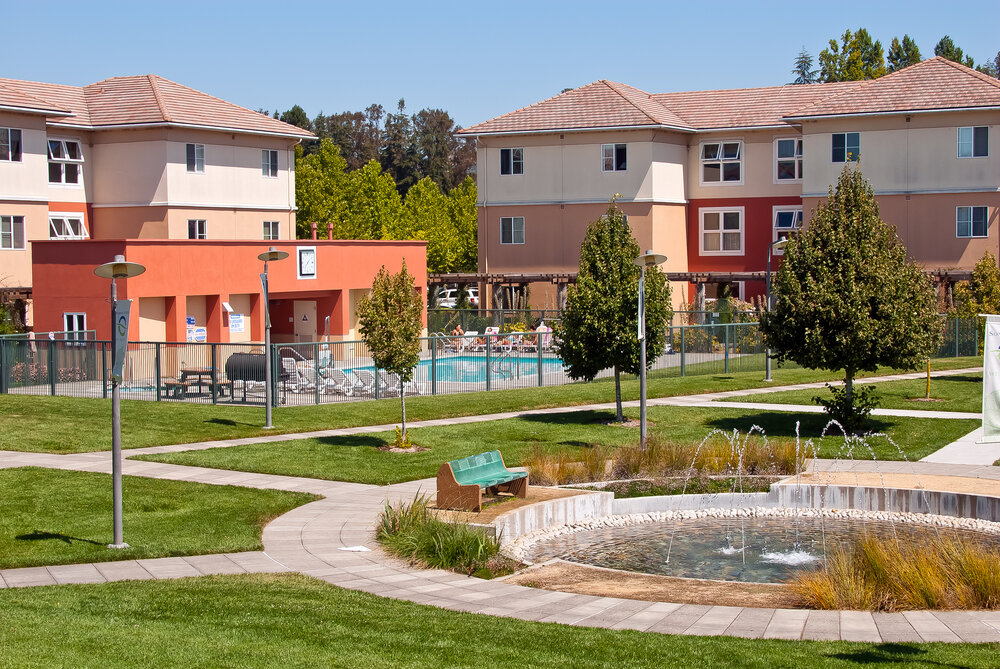 The Beaujolais housing complex on a sunny day
