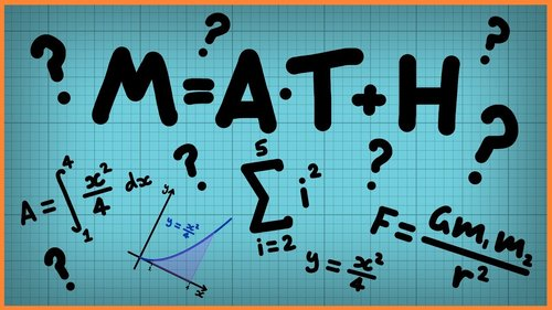 Math graphic with equations