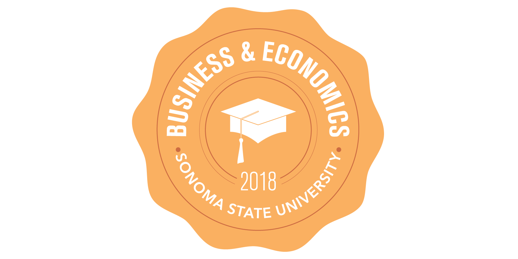 School of Business and Economics 2018 Commencement badge