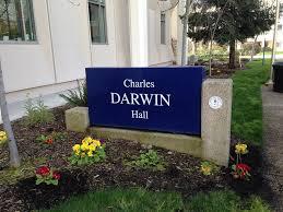 Charles Darwin Hall sign