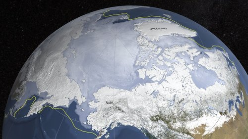 Antarctic ice sheet on Earth