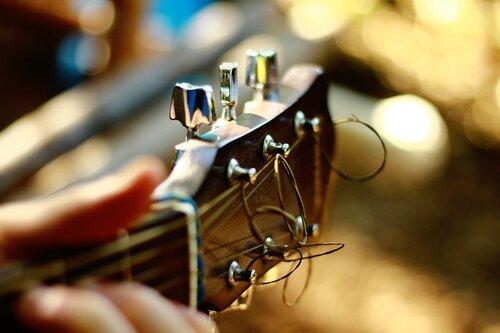 Head of a guitar