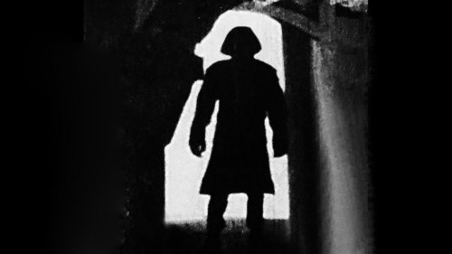 Dark silhouette of a person