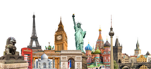 Famous monuments from around the world