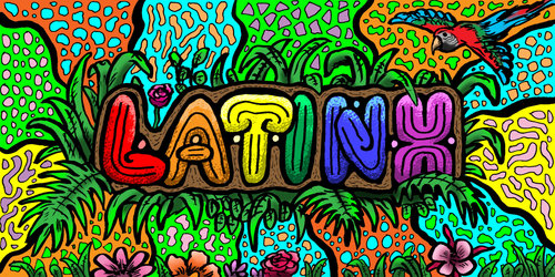 Colorful Latinx graphic