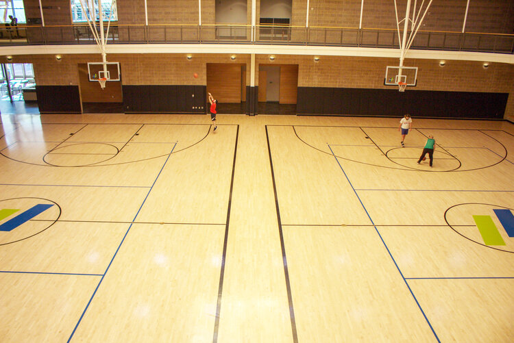 Basketball court- rec center