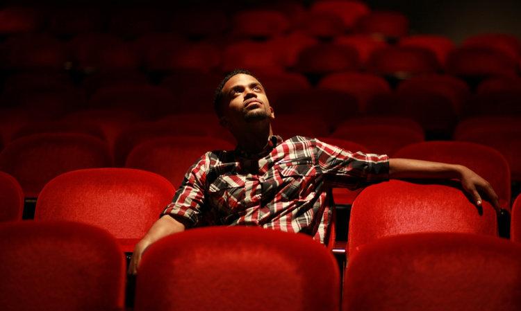 Person in a theatre