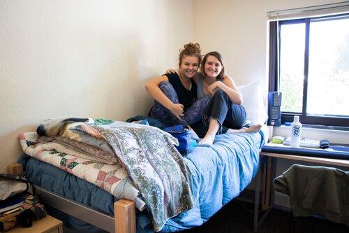 Siblings in a dorm