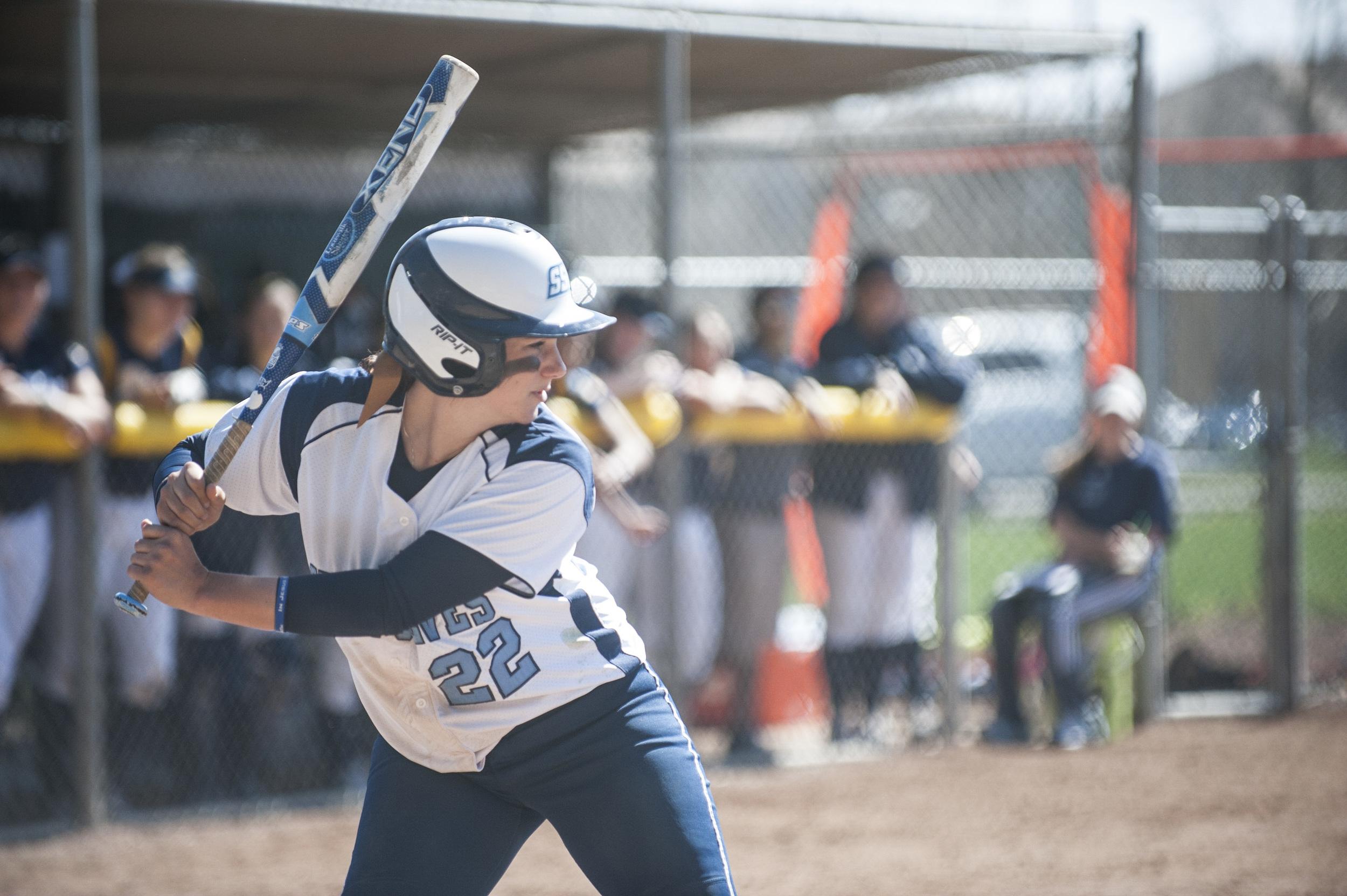 SSU softball player up to bat