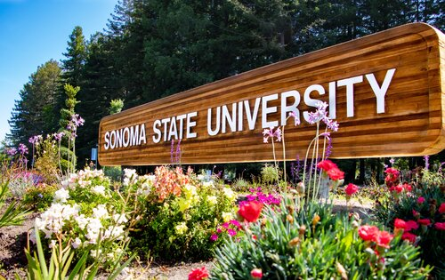 Sonoma State University sign