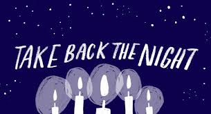 Take back the night graphic