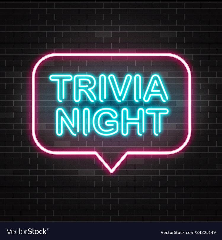 """Trivia Night"" neon sign"