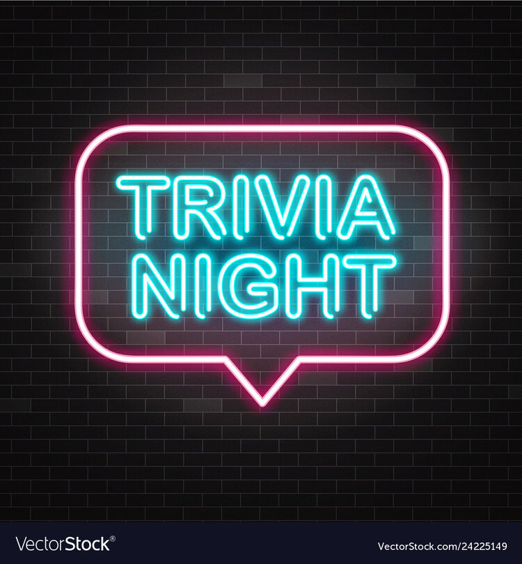 """Trivia Night"" neon sign"