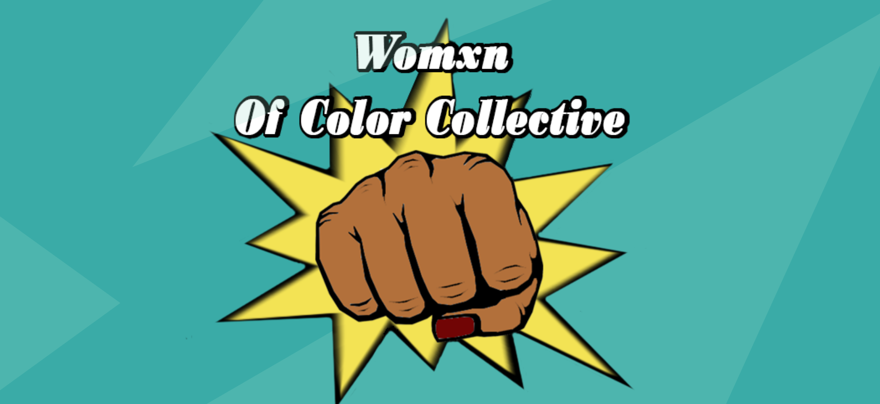 Illustration of a clenched fist with nails painted red