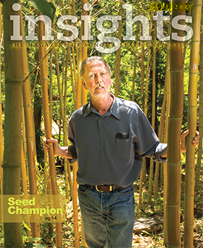 Insights magazine Fall 2017 cover features Seed Champion Bill McNamara