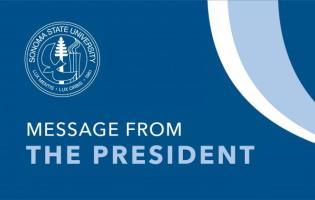 President's message banner