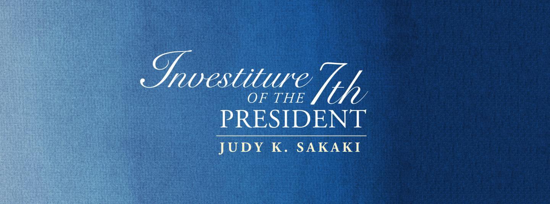 Investiture banner - Judy Sakaki