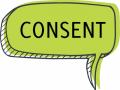 Consent speech bubble