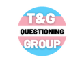 The Trans & Gender Questioning Group mark featuring light blue, pink, and white stripes